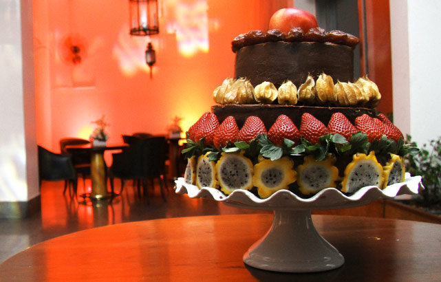 Lindo bolo de frutas