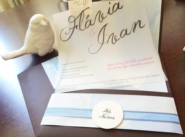 O nosso convite de casamento