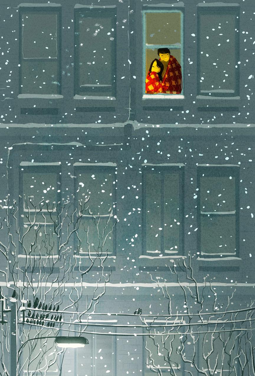 Inverno visto da janela