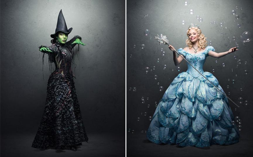 Myra e Fabi como Elphaba e Glinda