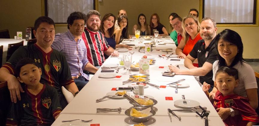Almoço com Raí em churrascaria de São Paulo
