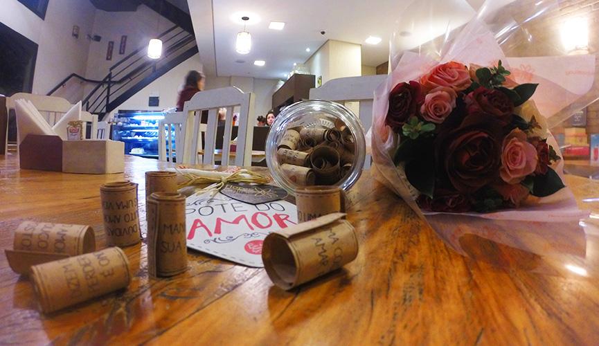 Mensagens de de carinho no Pote do Amor
