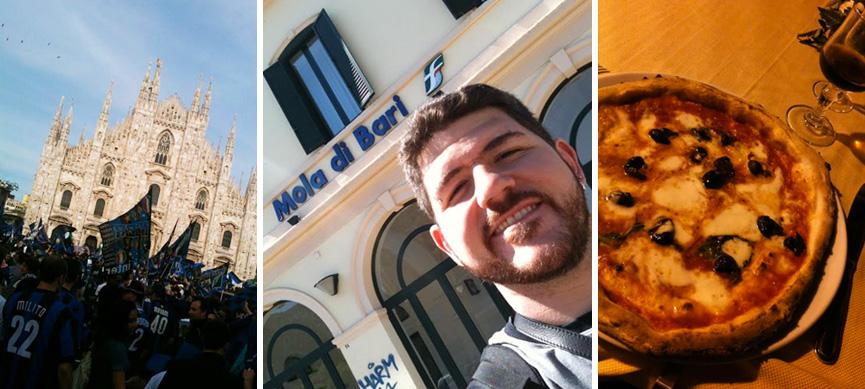 Bons momentos: ver a Internazionale campeã em Milão, conhecer a terra da famiglia e comer uma boa pizza em Napoli.