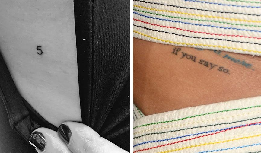 Tatuagens de Lea Michele em homenagem a Cory