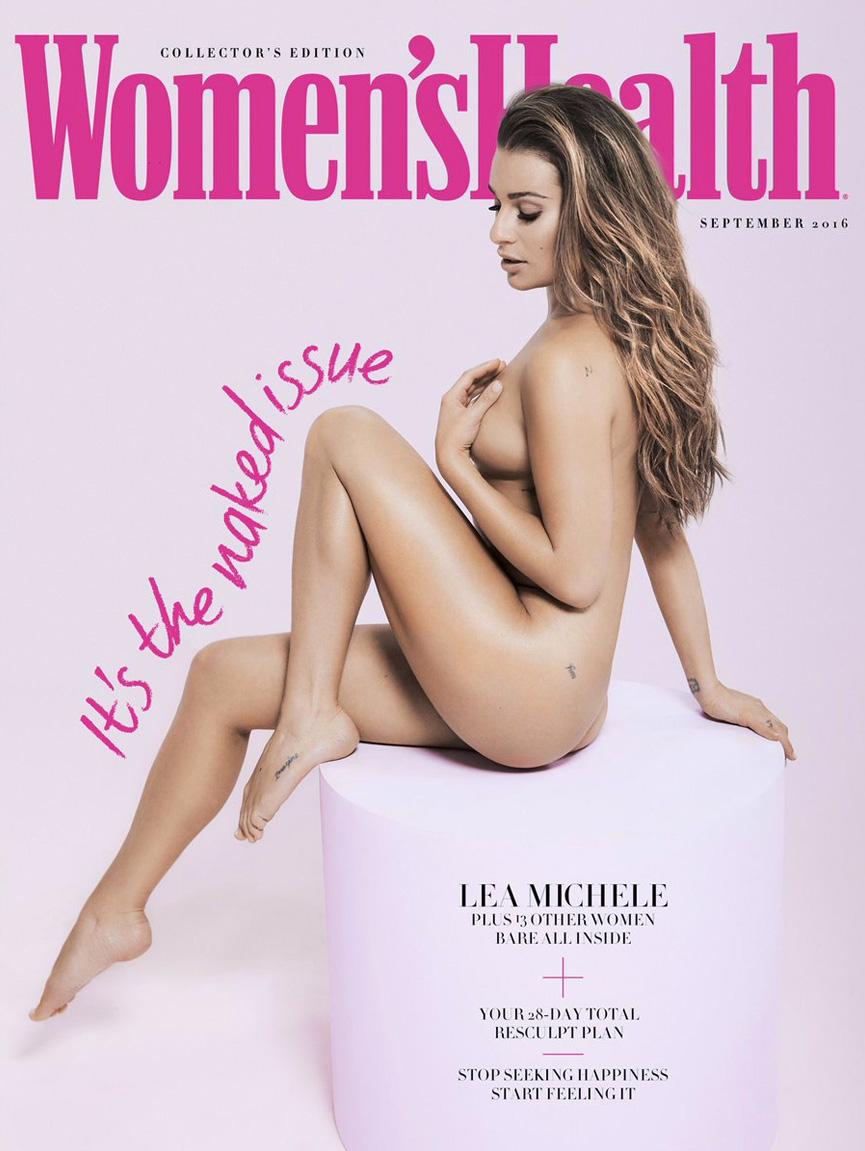 Capa da Women's Health - Edição Nua - com Lea Michele
