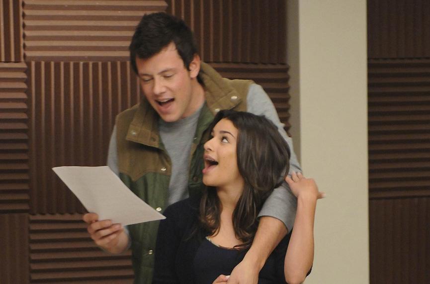 O casal Rachel e Finn do seriado Glee