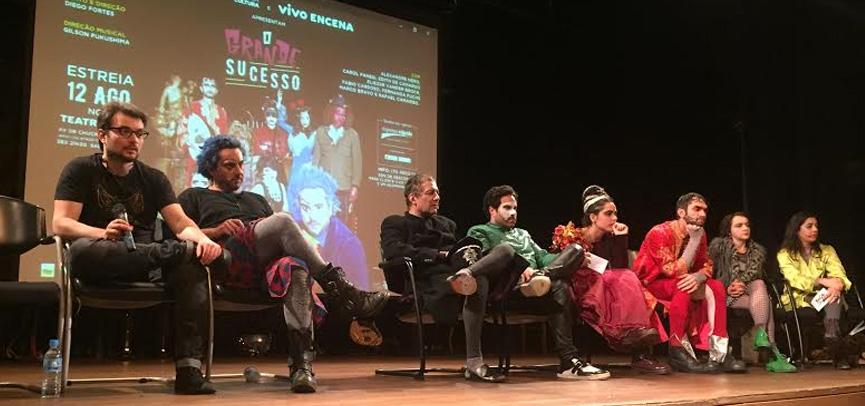 Alexandre Nero e o elenco em coletiva para a imprensa
