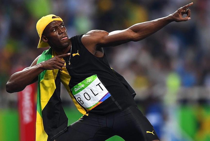 Bolt comemora - Rio 2016