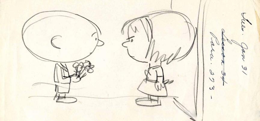 único desenho da garotinha ruiva feito por Schultz