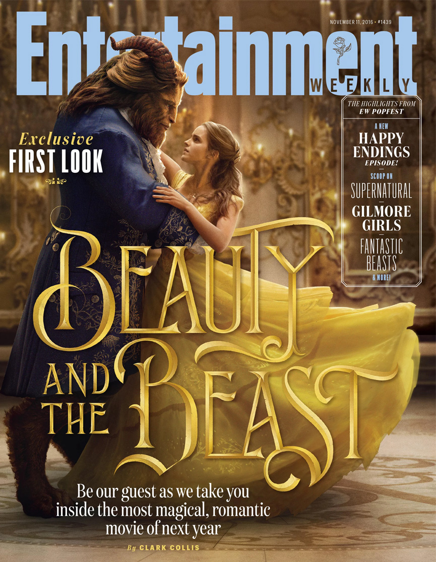 Capa da Entertainment Weekly com a Bela e a Fera