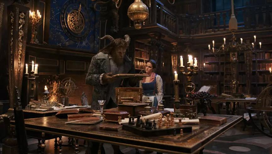 A biblioteca do castelo da Fera