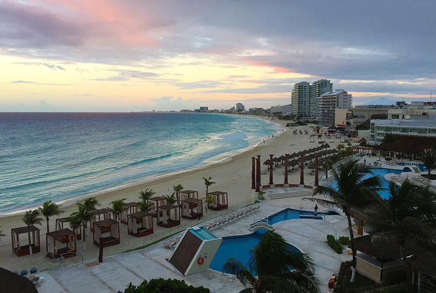 Krystal Cancun vista da sacada