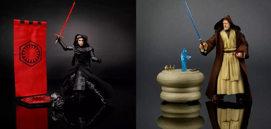 Kylo Ren e Obi-Wan Kenobi - Black Series da Hasbro