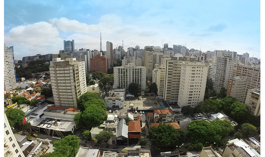 Vista do quarto Quality Suites Oscar Freire