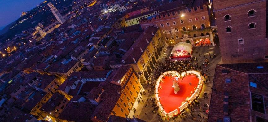 Valentine's Day comemorado em Verona