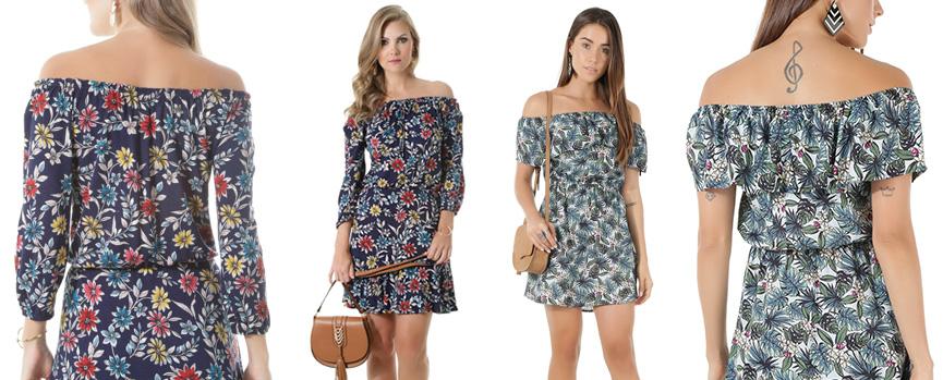 Vestidos florais da C&A