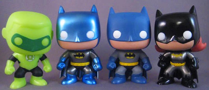 FUNKO FORCE: Lanterna Verde, Batman metálico, Batman clássico e Batgirl