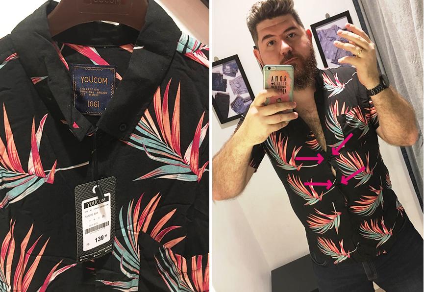 a95ee9aa23 A Difícil Tarefa de Comprar uma Camisa Florida Tamanho GG